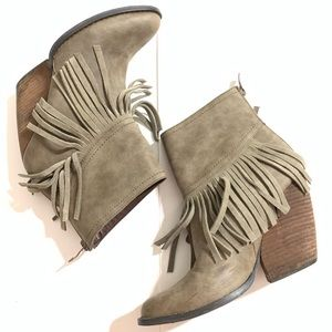 Very Volatile Ankle Tassel Boots size 7